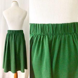 Modcloth Skirts - High Waist Green ModCloth MidiSkirt w/ Pockets! 💚